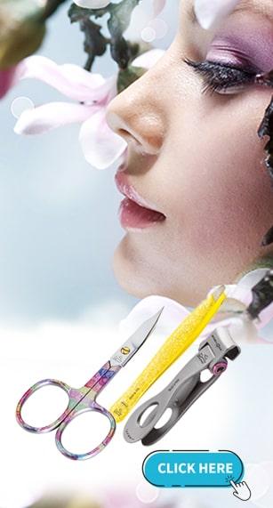 Professional Scissors, Tweezers, Files, Accessories for body care